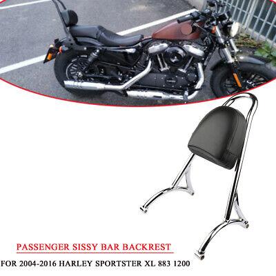Gloss Black Sissy Bar Backrest Sideplates for Harley Davidson Sportsters Like XL 883 1200 Iron Low Custom Nightster Superlow 48 72 2004-2019 ref 52710-07 Side Plates