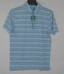 NEW-G-FORE-G4-Men-039-s-Blue-Striped-Golf-Polo-Shirt-Size-Medium-125