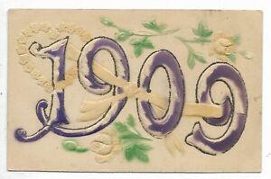 1909-New-Year-embossed-postcard