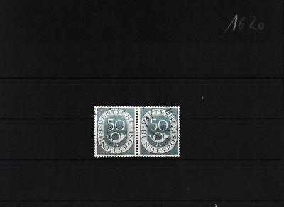 Brd 134wp Waagerechtes Paar Gestempelt 2.wahl Briefmarken Deutschland Kleiner Zahnfehler PüNktliches Timing