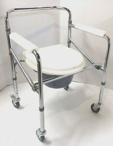 Convenient Commode Wheelchair Over Toilet Shower Compact Folding ...