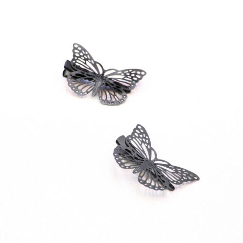 Prettyia Ladies Metal Butterfly Hair Clip Hairpin Barrettes Wedding Gifts