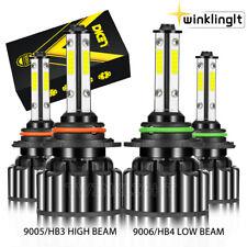 90059006 Combo Led Headlight 480w 30800lm Highlow Beam 6000k White 4 Bulbs Kit