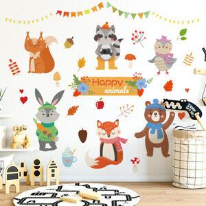 Details about Animal Party Wall Sticker For Children Bedroom/Classroom  Kindergarten Decor DIY