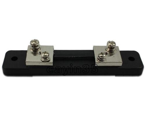 DC 75mV 10//20//30//50//100A Current Shunt Resistor For Amp Ammeter Panel Meter FL-2