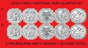 2020 P /& D America the Beautiful National Park Quarter 10 Coin Set ON HAND