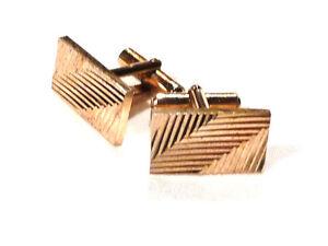 Bijou-alliage-dore-boutons-de-manchette-anciens-stylises-cuff-links