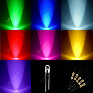 70-Red-Green-Blue-Yellow-Purple-Pink-White-3mm-Mixed-LED-Light-90-Free-Resistor