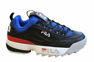 Fila Disruptor CB Low Baskets Homme Noires à Lacets Casual Chaussures 1010707 25Y