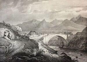 Bridge-of-Light-on-the-Drac-near-Walnut-Small-Lithography-1827-Isere-Superb