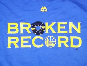 Details about Golden State Warriors Majestic NBA Men's Broken Record 73 9 T Shirt Size S