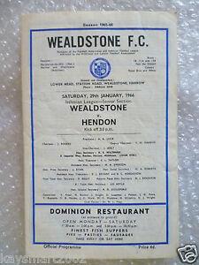 1966-WEALDSTONE-v-HENDON-Isthmain-League-Senior-Section-29th-Jan