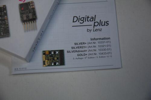 NEU Lenz 10321-01 DCC Digitaldecoder Silber  Silver 21
