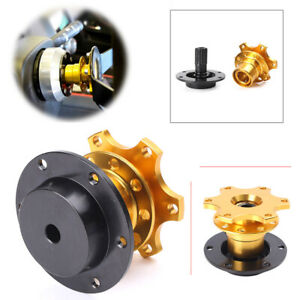 Quick-Release-Steering-Wheel-Hub-Gold-Sports-for-Momo-Sparco-OMP-Universal-ha