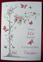 Personalised Handmade Birthday Card - 30th 40th 50th 60th 65th 80th 90th  (1576)