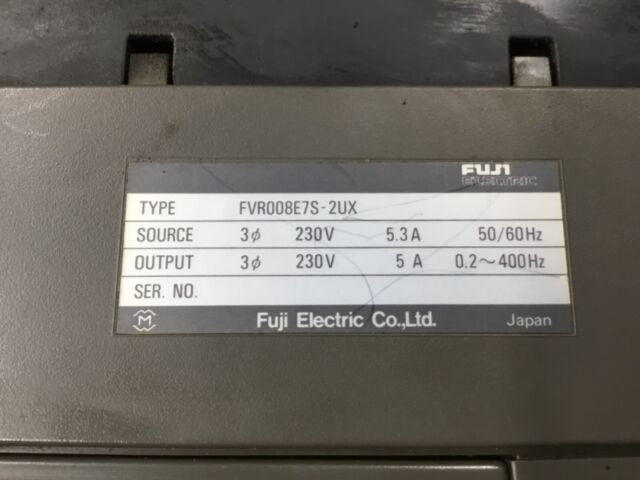 FUJI ELECTRIC 1HP 230V VARIABLE SPEED AC DRIVE FVR008E7S-2UX