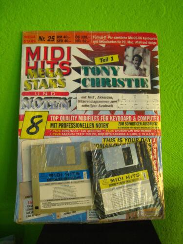 MIDI HITS Nr 25 Tony Christie Mega-Stars 8 Songs GM MIDIFILES Neu orig.verp.