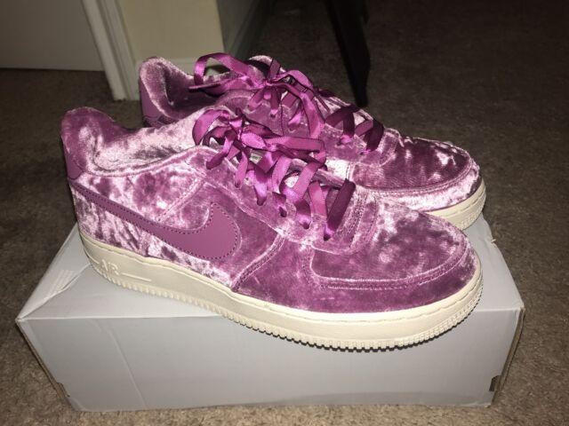 NIKE AIR FORCE 1 LV8 Velvet Tea Berry GS Shoes Girls 849345