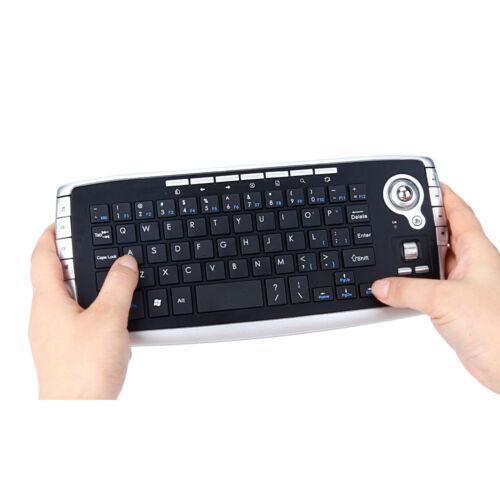 Mini 2.4Ghz 83 Keys Wireless Keyboard Touchpad w// Mouse Mice for PC PS4 Smart TV