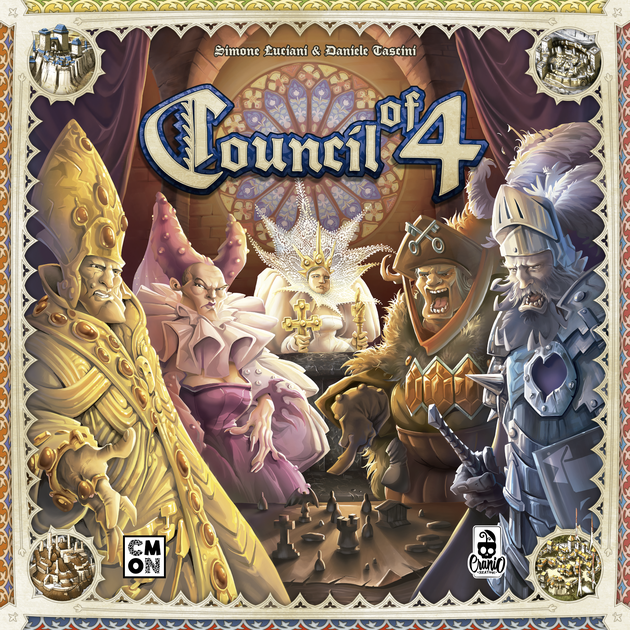 Council of Four - Board Game - CMON - Factory Sealed