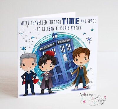 DALEK Timelord DOCTOR WHO PERSONALISED BIRTHDAY CARD