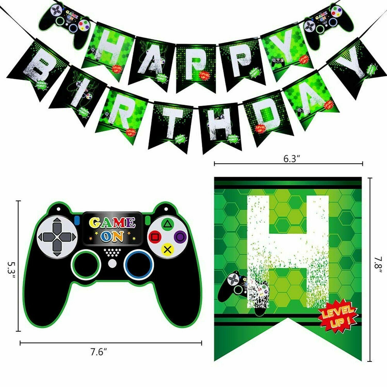 Juegos PS4 y Xbox Fiesta de Cumpleaños Pancartas & Globos-Video Juego Fiesta