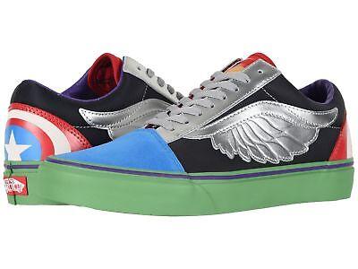 Marvel Comics Vans Para Mujer Old Skool Escuela Vengadores Con Cordones Zapatillas Multicolor | eBay