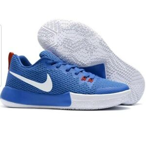 6cac4f48e7a NIKE Mens Blue   White Zoom Live II Basketball Shoes Trainers US 9.0 ...
