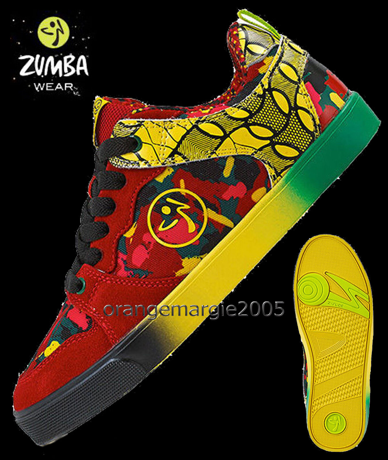 ZUMBA® Lets Jam Low Top Shoes Trainers MAX SUPPORT! RARE fr.Convention ALL SIZES