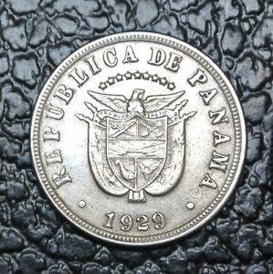 1929 Republica De Panama Cinco Centesimos 5 Nice