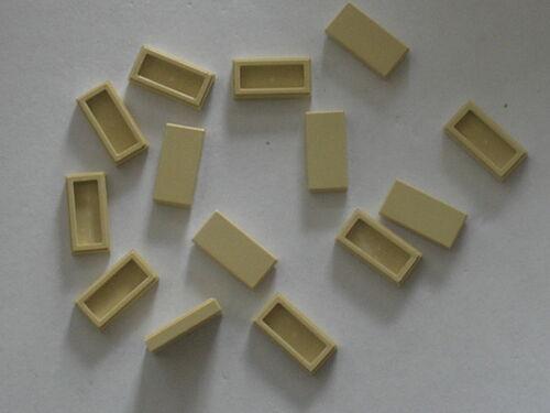 Set 21005 10189 76052 10196 10214 8671 10190 5891 LEGO tan tiles 1x2 ref 3069b