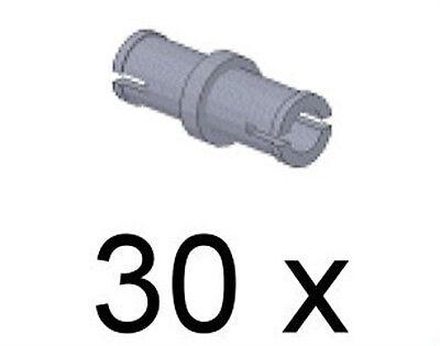 LEGO Technik - 30 x Technik Pin kurz hellgrau / Technic Pin / 3673 NEUWARE