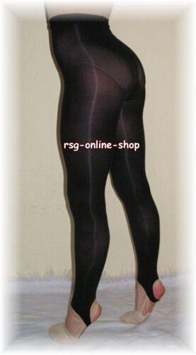 RSG Legging TRAININGSLEGGINGS Tanzleggings SCHWARZ GR Bekleidung 122/128 mit Steg NEU! Turnen & Gymnastik