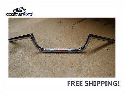 """Clubman Ace Handlebars Café Racer Triumph Norton BSA Honda Yamaha Chrome 7/8"""""""