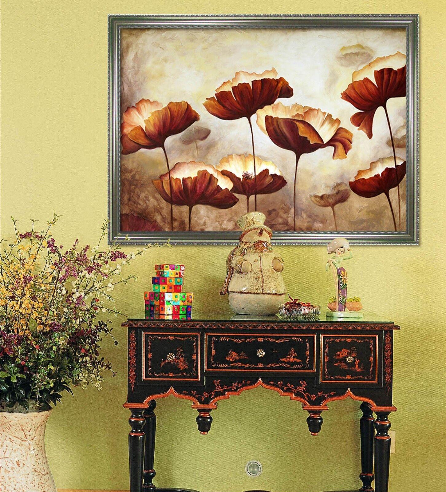 3D Lotus Leaf 566 Fake Framed Poster Home Decor Print Painting Unique Art Summer