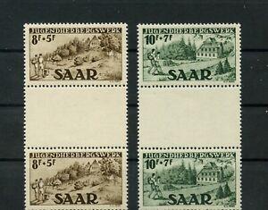 Germany-Saar-Saarland-vintage-yearset-1949-Mi-262-263-Zs-Mint-MNH-1