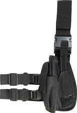 SWAT TACTICAL DROP LEG GUN HOLSTER Left hand Viper SAS black quick release pouch