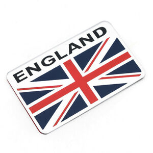 Sticker-Aufkleber-Emblem-England-Metall-selbstklebend-Great-Britain-3D-Flagge-GB