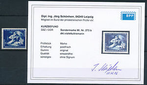 DDR-Bergbau-Mansfeld-1950-seltene-Farbe-Michel-273-b-Befund-S13723