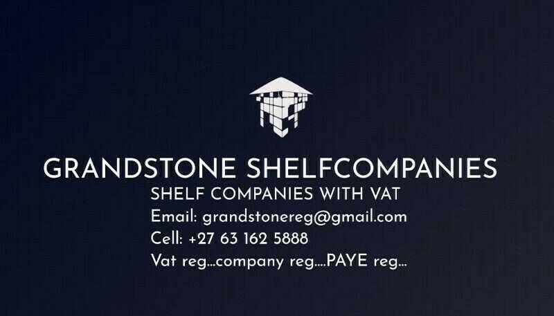VAT & PAYE/UIF/SDL REGISTERED SHELF COMPANY ON PROMO