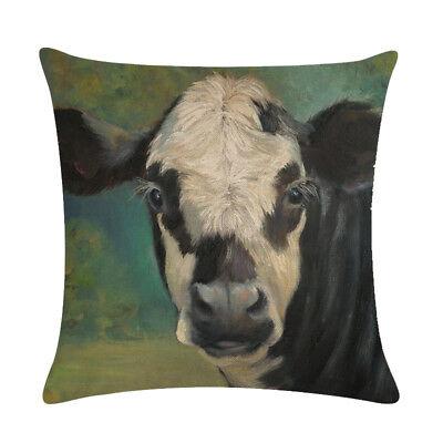 Farm Cow Pattern Soft Throw Pillow Covers Cushion Covers Decorative Pillowcase