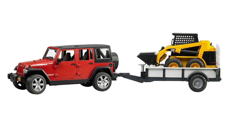 Bruder Jeep Wrangler Unlimited Rubicon mit Anhänger und CAT Lader 2925