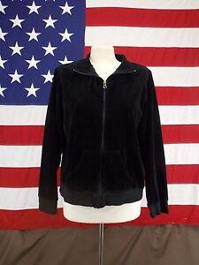 338823e848 Image is loading Perry-Ellis-Jacket-Cotton-Velvet-Black-Full-Zip-