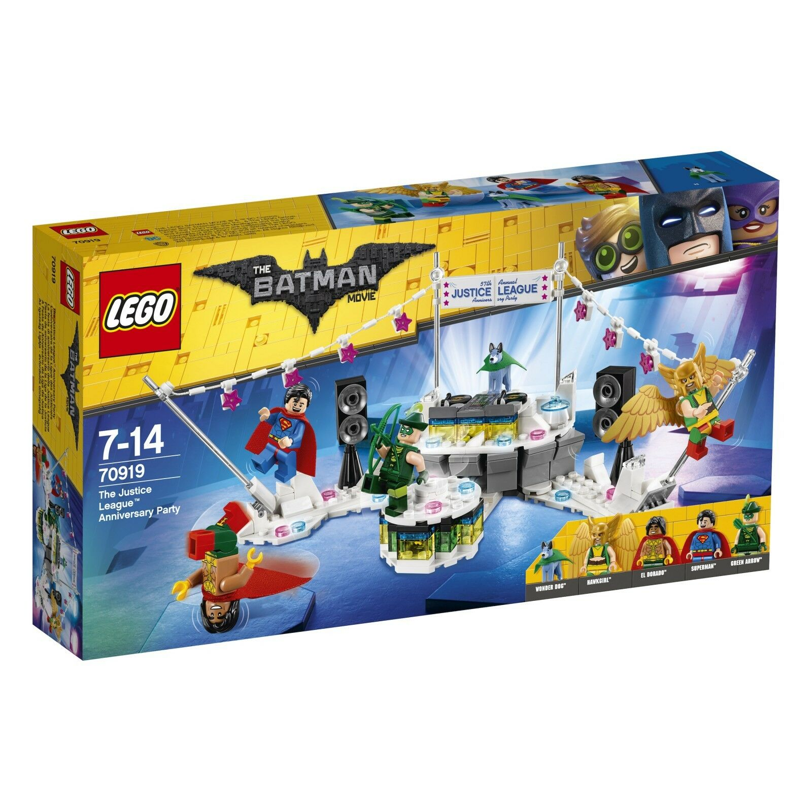 THE LEGO® BATMAN MOVIE 70919 The Justice League™ Anniversary Party NEU OVP NEW