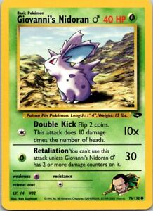 Vintage Basic Pokemon Giovanni's Nidoran #32 Gym Heroes 76/132 40 HP Single Card