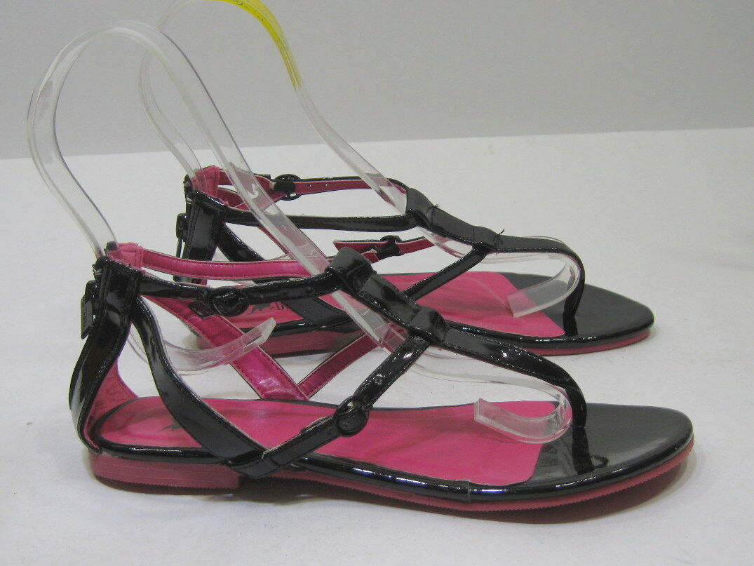 Womens Summer Black Flat Size Ankle Strap Sexy Sandals Shoes Size Flat 10 5e9498