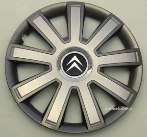 """Brand new grey/silver 14"""" wheel trims hubcaps to fit Citroen  C1,C2,Saxo"""