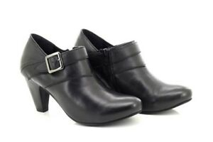 moyen talon noir Gluv ᄄᄂ en pour Bottines cuir femme 7yIf6vYbmg