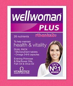 Vitabiotics Wellwoman Plus 56 Tablets Capsules With Omega 3 6