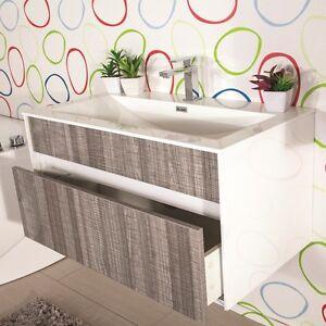 Mobile bagno sospeso moderno 90 cm offerta lavabo colonna e specchio camelia ebay - Lavabo bagno sospeso offerta ...
